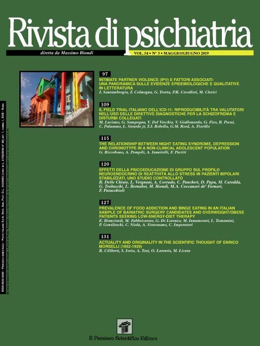 2019 Vol. 54 N. 3 Maggio-Giugno